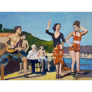 """""""El Balarin"""" Contemporary Figurative Giclee Print by Michelle Heimann 36""""x48"""" For Sale"""