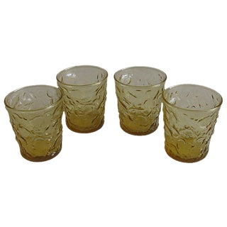 Mid-Century Amber Bar Glasses, Set of 4 For Sale