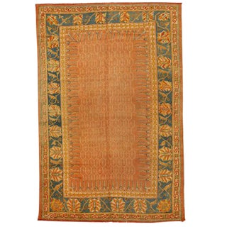 Antique 19th Century Turkish Oushak Carpet For Sale