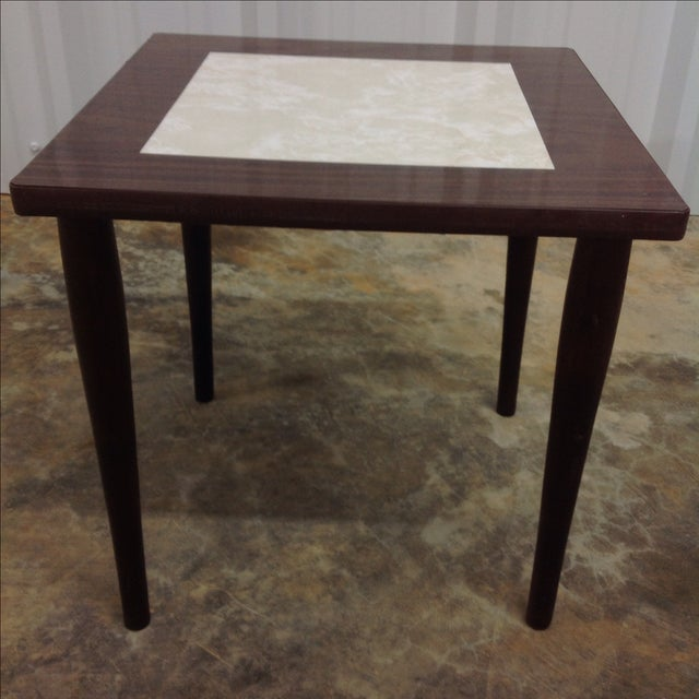Mid Century Side Tables With Formica Tops - 2 For Sale - Image 4 of 5