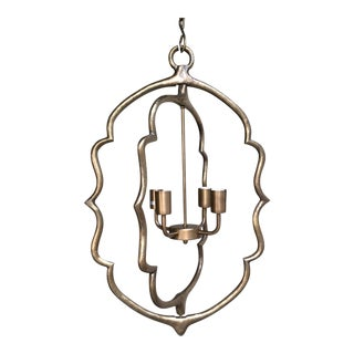 Antique Large Moroccan Hanging Bronze Light