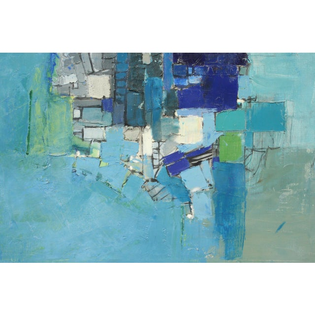Mid-Century Blue Square Abstract Tommy Hansen For Sale - Image 4 of 10