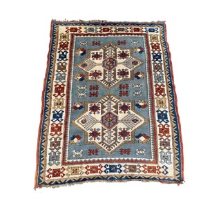 "1960s Vintage ""Shanon"" Oushak Rug- 4′2″ × 5′5″ For Sale"