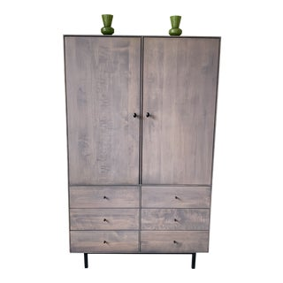 Rustic Room and Board Hudson Armoire For Sale