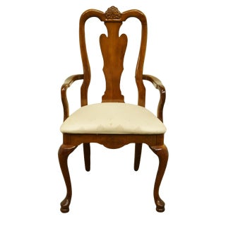 Late 20th Century American Drew Cherry Grove Collection Queen Anne Style Dining Arm Chair For Sale