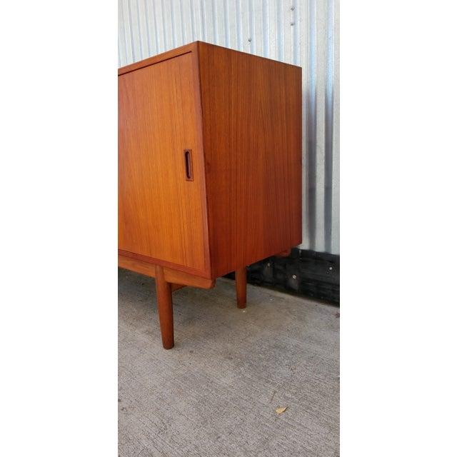 Danish Modern Borge Mogensen Teak Sliding Door Credenza For Sale - Image 3 of 12
