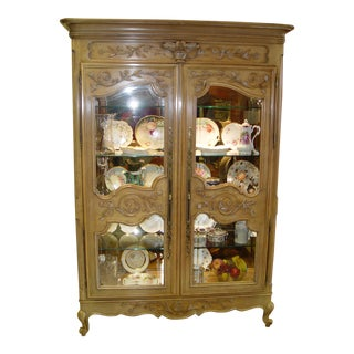 French Country Century Curio Cabinet For Sale