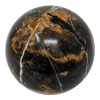Carved Round Marble Ball / Orb - 160mm For Sale
