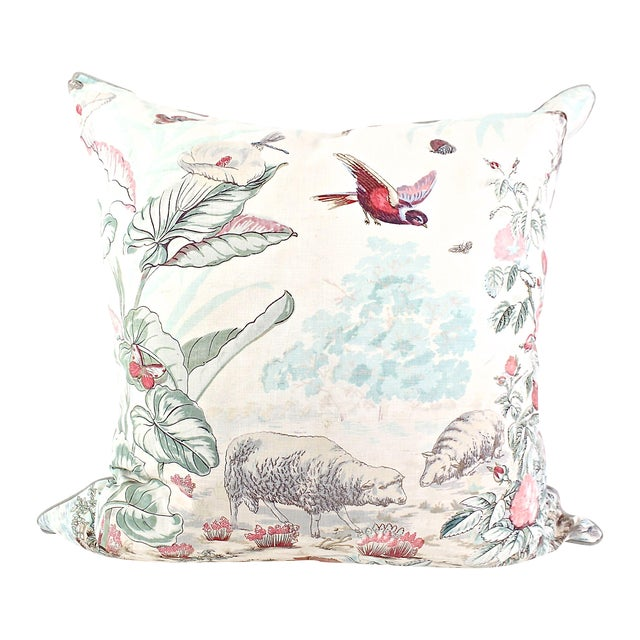 Antique French Hand Block Pillow For Sale