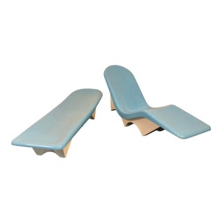 1960s Fibrella Le Barron Restored Fiberglass Pool Lounge - a Pair For Sale