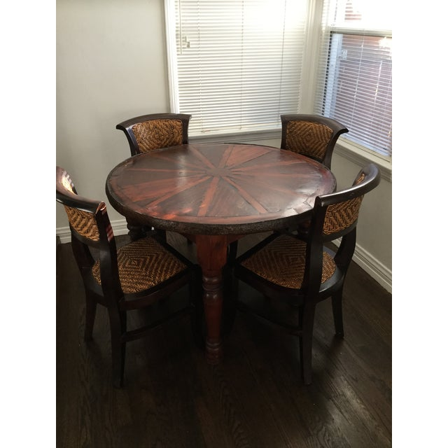 Vintage Style Wooden Dining Set - Image 2 of 7