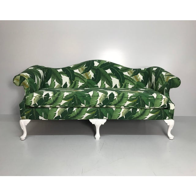 Wood 1940s Tropical Leaf Sofa For Sale - Image 7 of 7