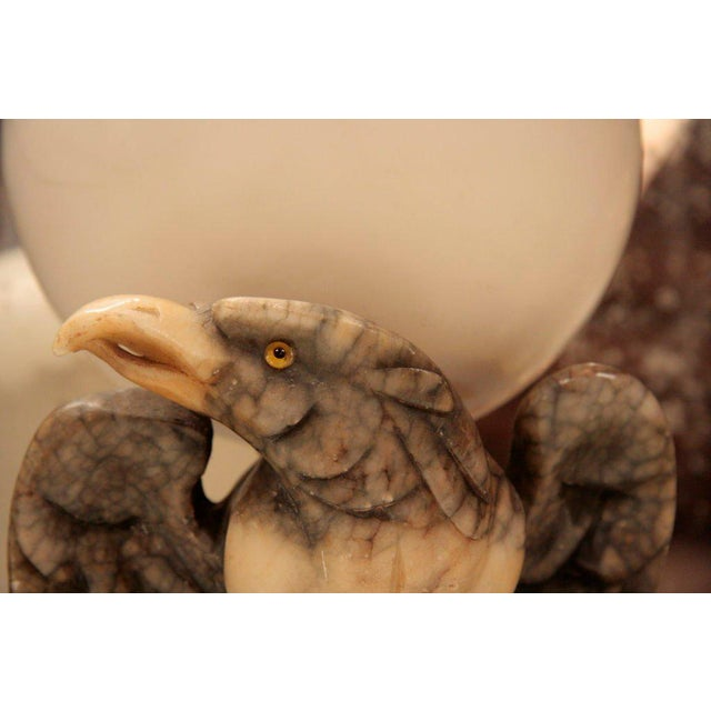 Traditional Marble Eagle Light For Sale - Image 3 of 8