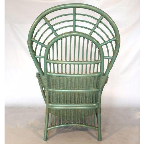 Ficks Reed Rattan Bamboo Fan Back Arm Chair - Image 7 of 11
