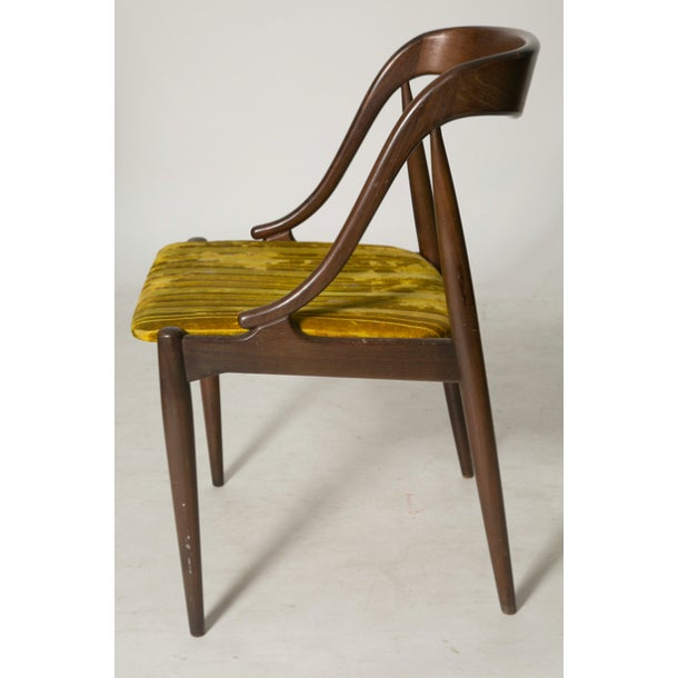 Danish Modern Johannes Andersen Teak Dining Chairs - Set of 4 For Sale - Image 3 of 5