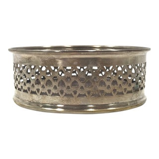 Silverplate Wine Coaster For Sale