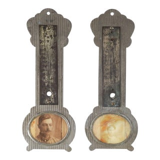 Antique Thermometer Picture Frames - a Pair For Sale