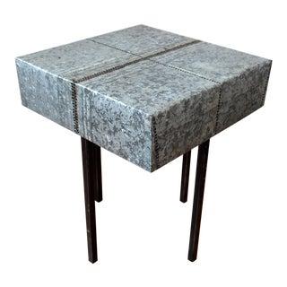 Rustic Nail Detail Metal Table