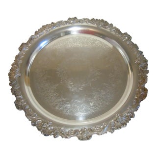 Antique Wilcox International Silver Co Footed Tray
