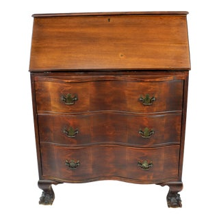 20th Century Early American Mastercraft Colonial Antique Reproduction Secretary Desk For Sale