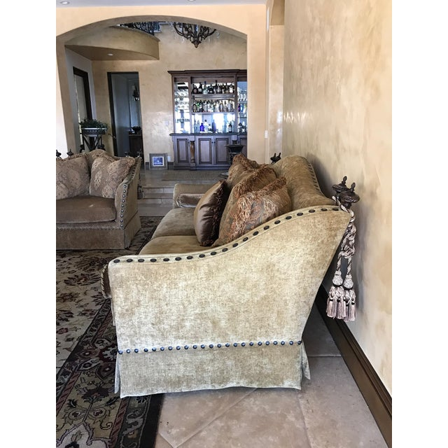 Marge Carson Style Sofa For Sale In Los Angeles - Image 6 of 8