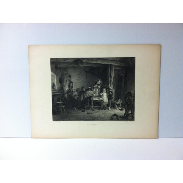 """Antique Print on Paper, """"Playmates"""" by Lumb Stocks, Circa 1880 For Sale In Pittsburgh - Image 6 of 6"""