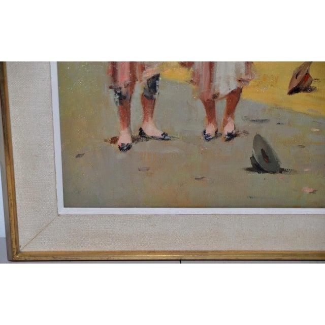 1950s Joan Giralt-Lerin (Spain, 20th C.) Toreador Oil Painting C.1950 For Sale - Image 5 of 10