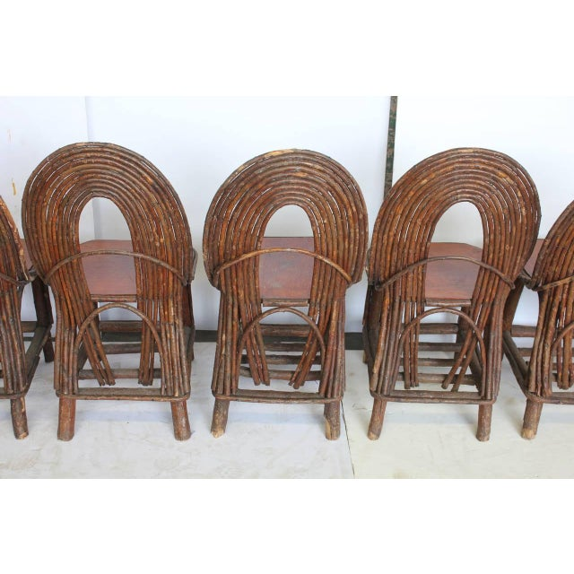 Mid 20th C. Vintage Adirondack Chairs- Set of 6 For Sale - Image 4 of 5
