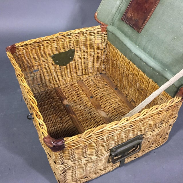 1940s Vintage Swiss Army Military Basket, 1940s, Switzerland For Sale - Image 5 of 10