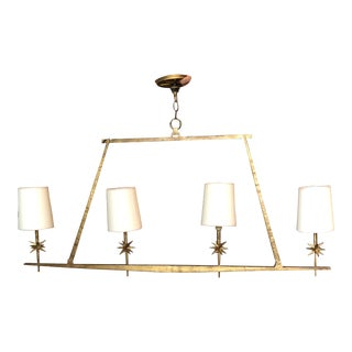 Linear Star Gilded Chandelier For Sale