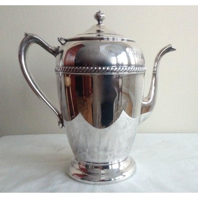 Vintage 1950s Silver-Plate Tea Service Pot - Image 2 of 5