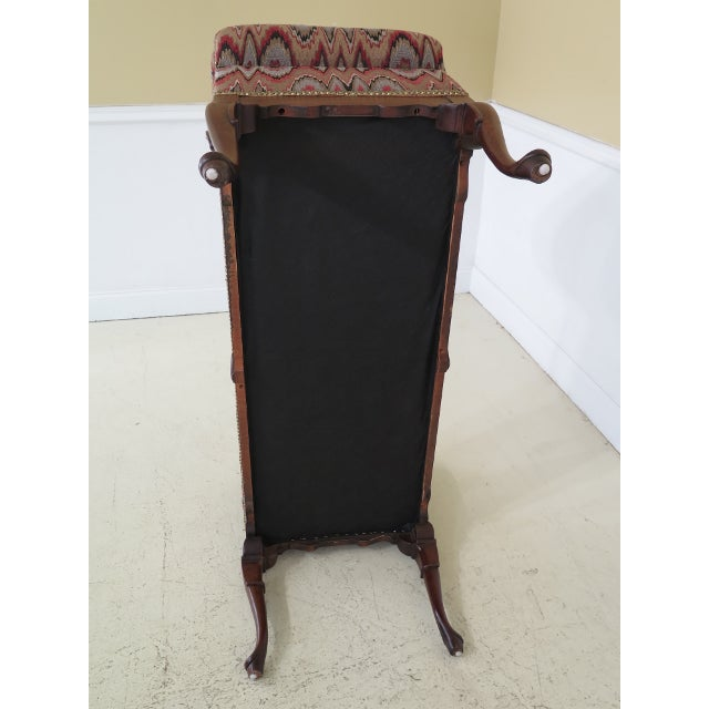 Queen Anne Mahogany Window Bench For Sale - Image 11 of 12