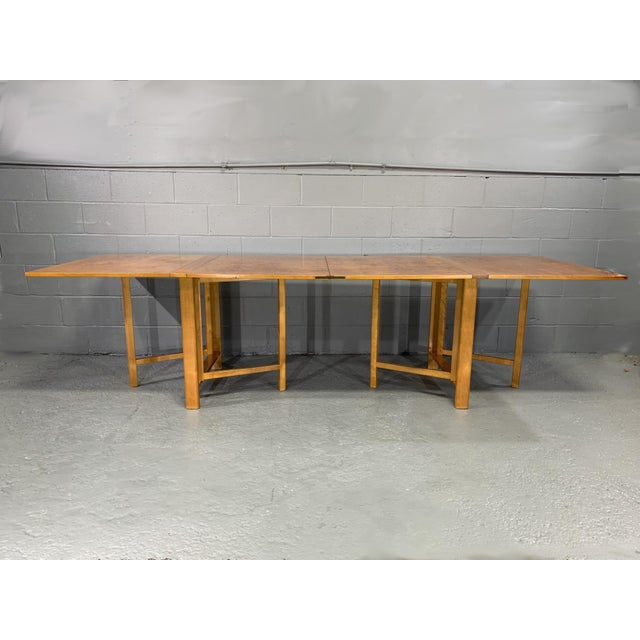 Flamed Birch Maria Folding Dining Table by Bruno Mathsson for Karl Mathsson For Sale - Image 13 of 13