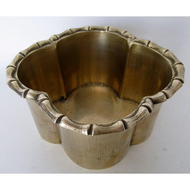 Handmade Brass Clover Console Bowl - Image 6 of 8