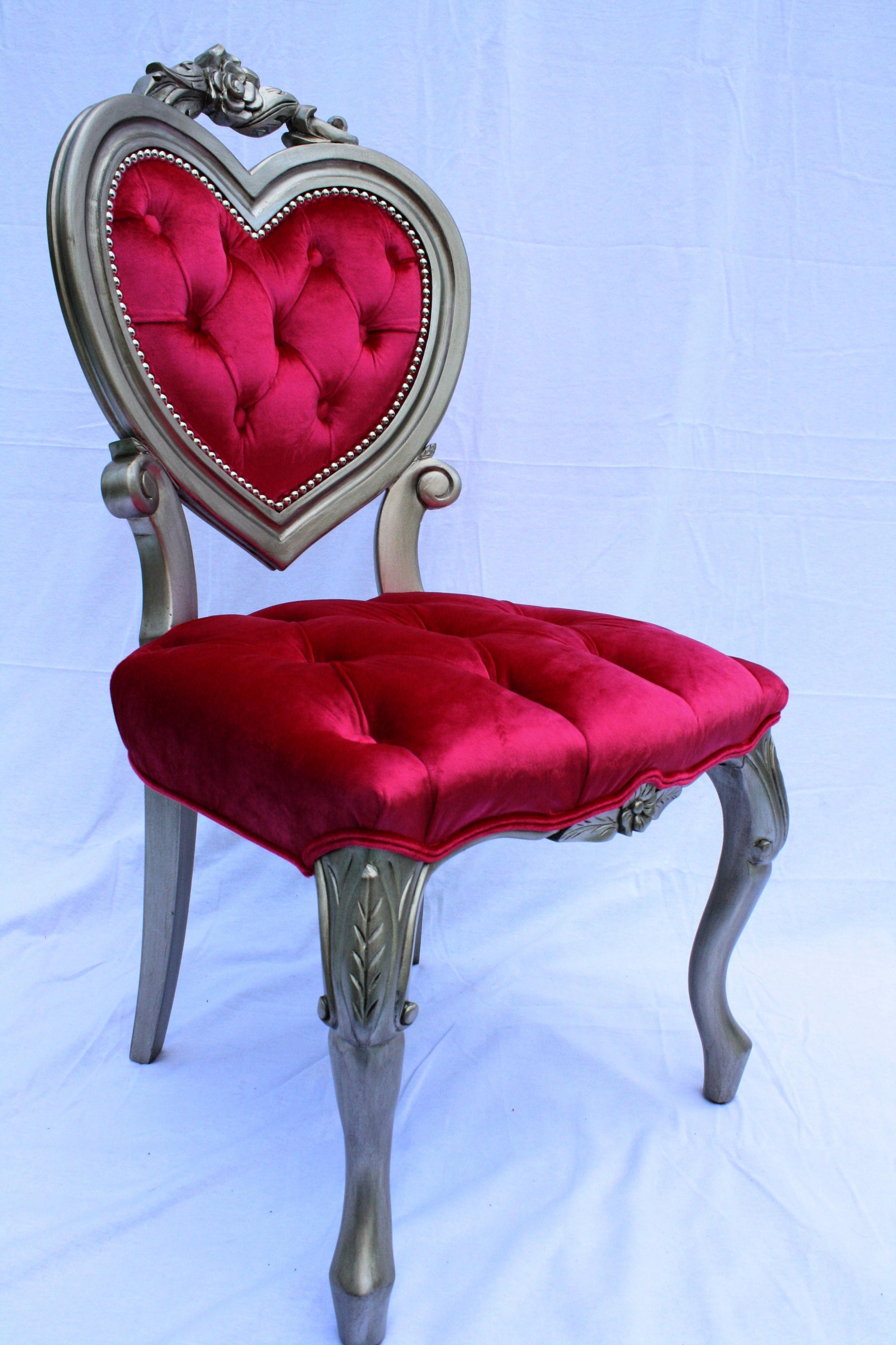 Heart Shaped French Victorian Parlour Chair   Image 3 Of 6