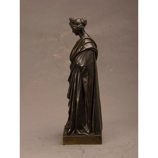 Late 19th Century 19th Century French Bronze Roman Goddess Sculpture of Tyche For Sale - Image 5 of 6