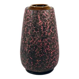 Mid-Century Modern Fingerprint Pattern Ceramic Vase