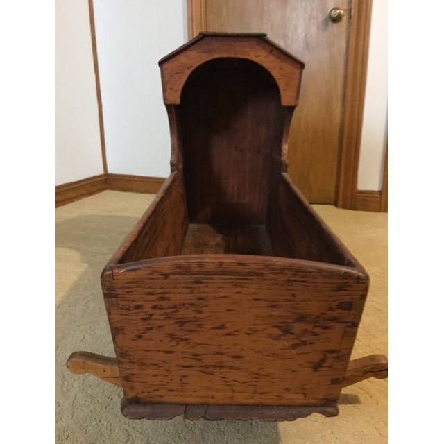 Early 1800's Handmade Primitive Rocking Cradle - Image 6 of 7