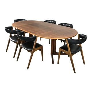 Danish Modern Dining Set by Kai Kristiansen & Niels Otto Moller For Sale