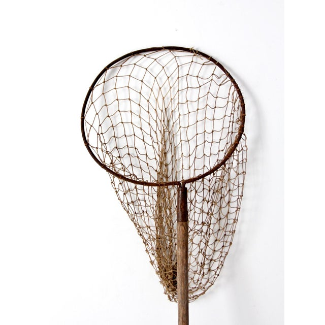 Country Antique Pole Fishing Net For Sale - Image 3 of 9