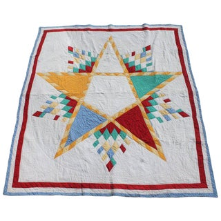 Antique Northeastern Star Quilt For Sale