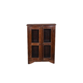 Early 21st Century Vintage Wooden Glass Cabinet