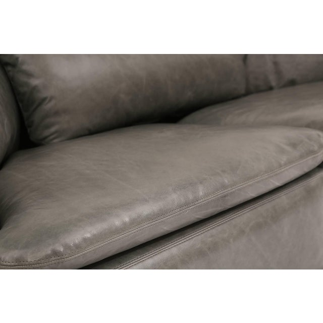 1970s Alberto Rosselli for Saporiti Leather Sofa For Sale In Phoenix - Image 6 of 8