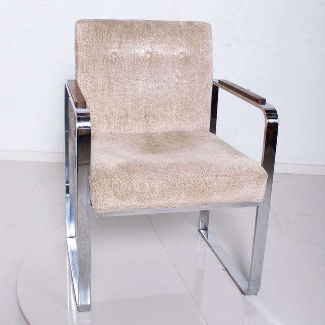 Mid-Century Modern Mid Century Modern Milo Baughman for Thayer Coggin Chrome Dining Chairs-Set of 4 For Sale - Image 3 of 11