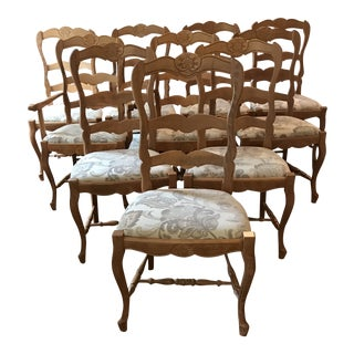 French Country Dining Chairs - Set of 10 For Sale