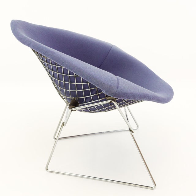 Vintage Mid-Century Harry Bertoia for Knoll Diamond Rocking Chair & Ottoman - 2 Pieces For Sale - Image 10 of 13
