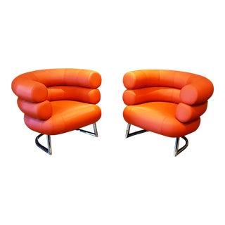 Eileen Gray Bibendum Style Chairs - A Pair