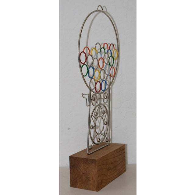 Joseph A. Burlini Kinetic Gumball Machine Sculpture C.1970s For Sale - Image 4 of 8