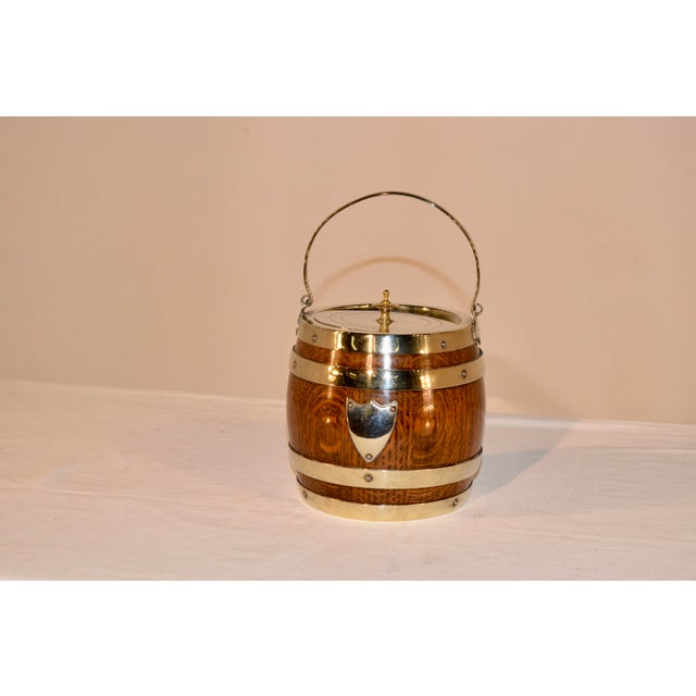 Metal English Silver Plated Biscuit Barrel, Circa 1900 For Sale - Image 7 of 7