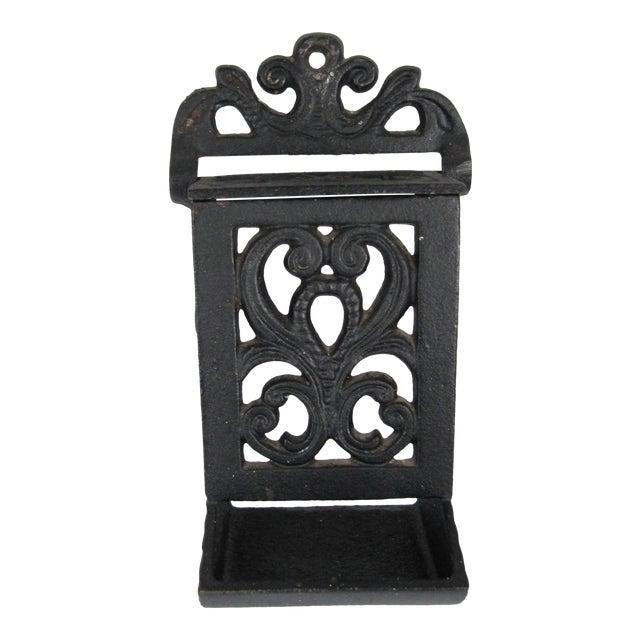 Black Cast Iron Match Safe For Sale